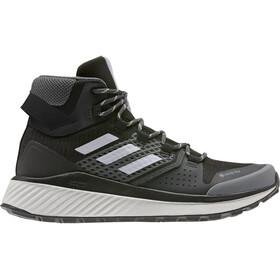 adidas TERREX Folgian Hiker Mid Gore-Tex Zapatillas Senderismo Mujer, core black/grey four/green tint